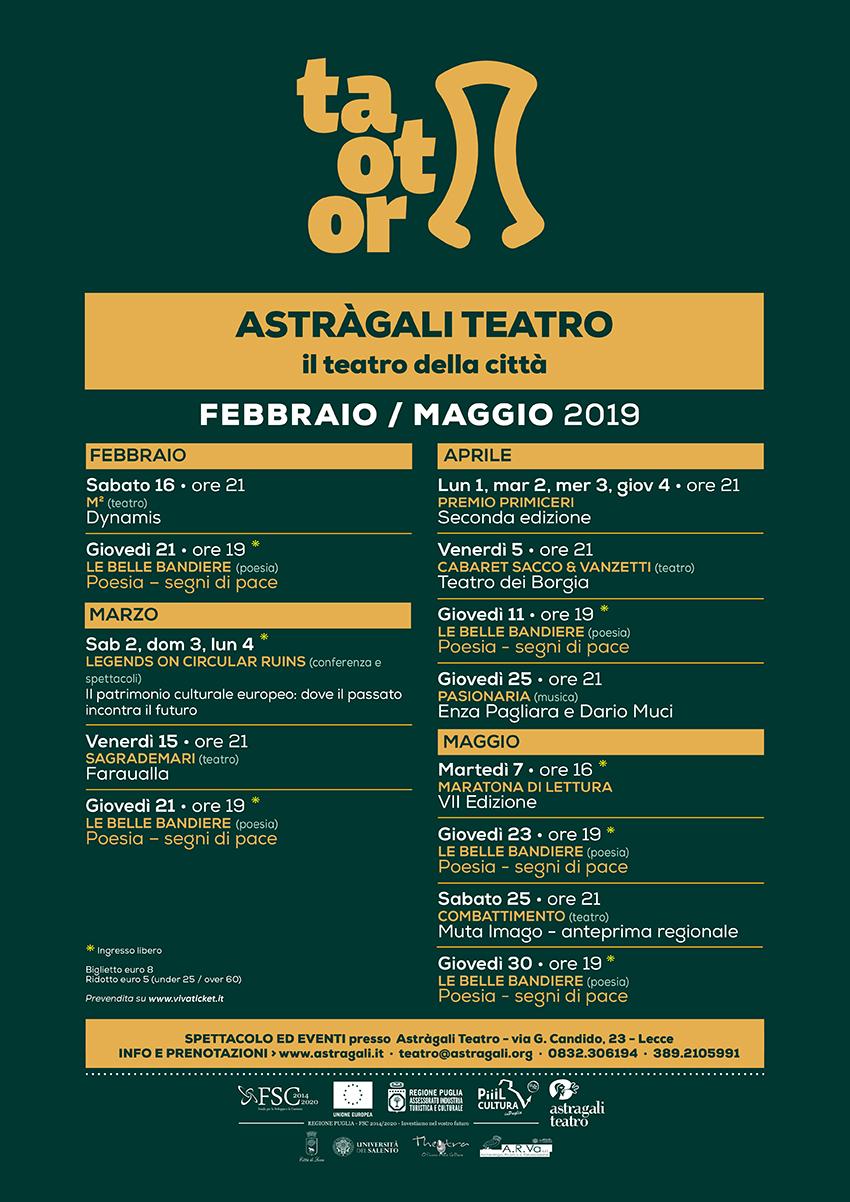 Rassegna invernale e primaverile del progetto Taotor ad Astràgali Teatro – il teatro della città