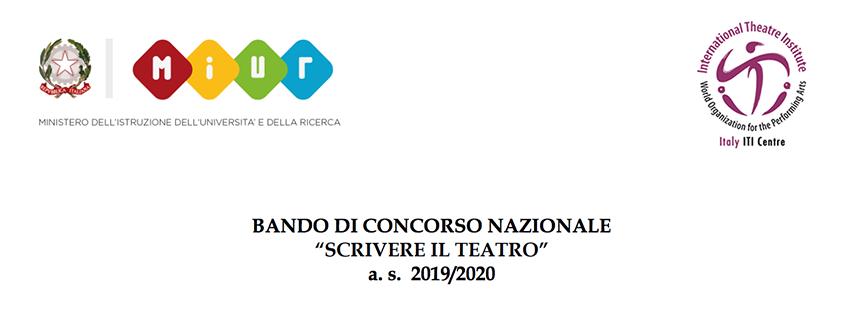 """Bando """"Scrivere il teatro"""" 2019/2020"""