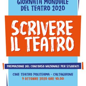 """Giornata Mondiale del Teatro 2020: premiazione del concorso """"Scrivere il Teatro"""""""