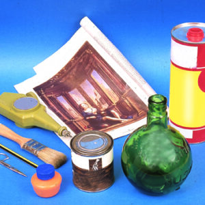 Laboratorio di découpage e pittura creativa su vetro