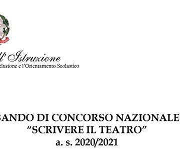 """Bando """"Scrivere il teatro"""" 2020/2021"""